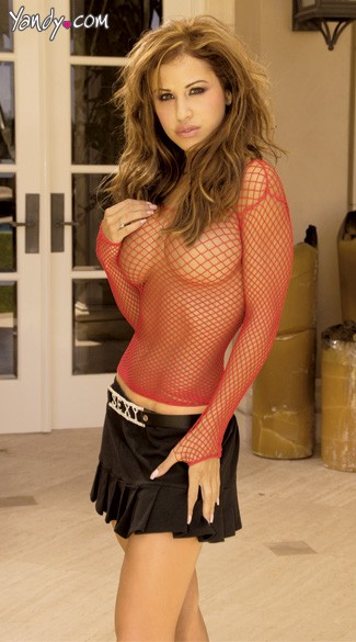 Long Sleeve Fence Net Top
