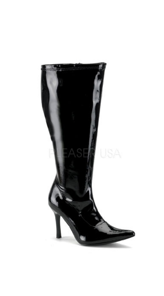 "Sexy Patent Boot with 3 3/4"" Heel, Patent Boot, Sexy Boot"