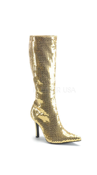 "Sequin Mirror Boot with 3 1/4"" Heel"