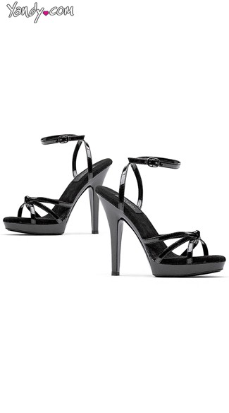 "5"" Black Strappy Sandal"