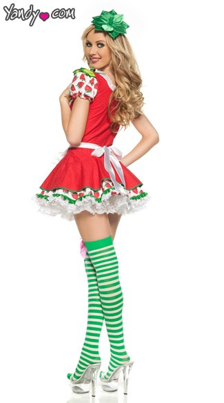 Adult Strawberry Girl Costume