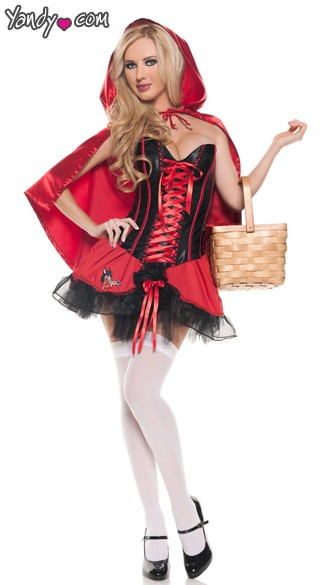 Sexy Riding Hood Costume, Riding Hood Halloween Costume, Little Red Riding Hood Adult Costume, Sexy Red Riding Hood Costume