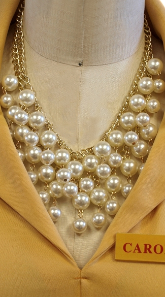 All Strung Out Pearl Necklace, Faux Pearl Necklace, Pearl Necklace Costume Accessory