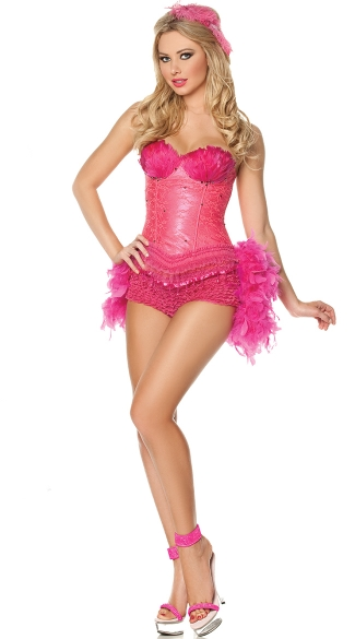 Flamingo Show Girl Costume, Pink Flamingo Costume, Hot Pink Showgirl Costume
