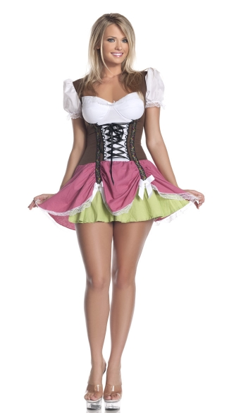 Plus Size Swiss Girl Costume, Beer Girl Costume, Beer Girl Halloween Costume