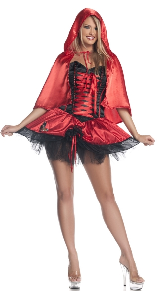 Plus Size Red Riding Hood Costume, Plus Size Little Red Riding Hood Costume, Plus Size Red Hood Halloween Costume