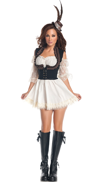 Plus Size Steampunk Lady Costume, Plus Size Steampunk Costume, Plus Size Sci-Fi Costume