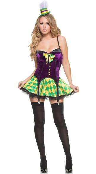 Sexy Fat Tuesday Costume, Mardi Gras Girl Costume