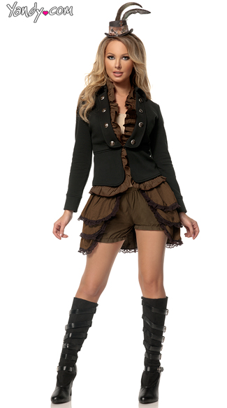 Plus Size Deluxe Steampunk Mistress Costume, Plus Size Steampunk Costume, Plus Size Sci-Fi Costume