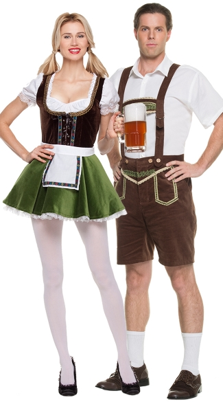 Bavarian Couples Costume, Sultry Beer Maiden Costume, Sexy Beer Girl Dress Costume, Oktoberfest Beer Costume, Bavarian Gentleman Costume, Men\'s Oktoberfest Halloween Costume, Men\'s German Beer Costume