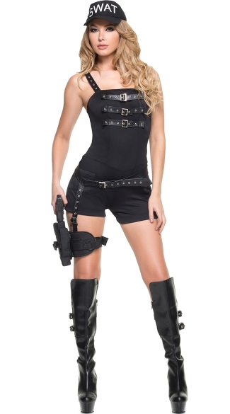 SWAT Commander Costume, SWAT Hottie Costume, Sexy SWAT Officer Outfit