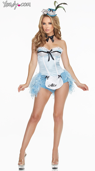 Deluxe Flirty Alice Costume, Sexy Alice Costumes, Gorgeous Alice Outfits