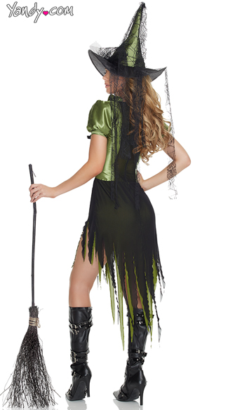 Seductress Emerald Witch Costume