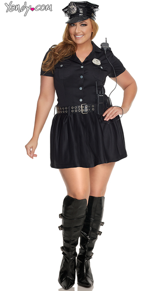 Plus Size Sultry Cop Costume