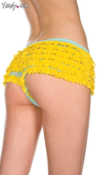 Ruffled Yellow Boyshorts
