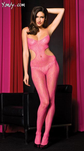 Hot Pink Seamless Bodystocking