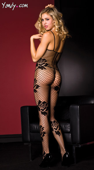 Rose Fishnet Bodystocking