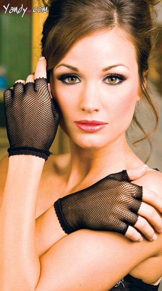 Wrist Length Fishnet Gloves, Fish Net Mini Gloves