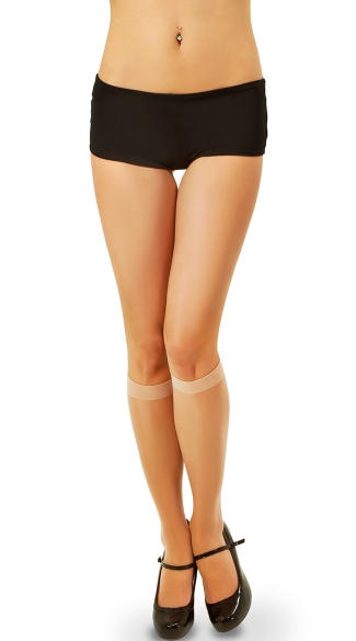 Sheer Spandex Knee Highs