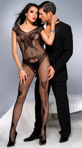 Fishnet Butterfly Bodystocking, Butterfly Bodystocking, Fishnet Bodystocking