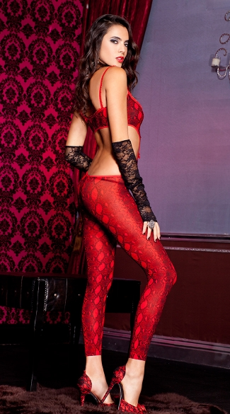 Red Python Bodystocking