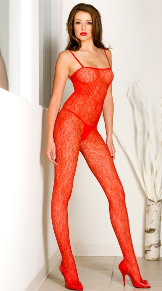 Sexy Spanish Lace Crotchless Bodystocking