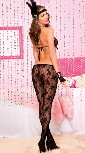 Lace Halter Bodystocking