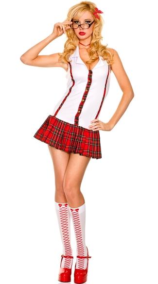 Nerd schoolgirl