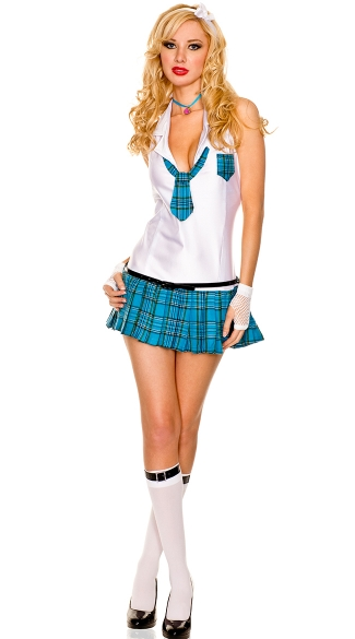 Dean\'s List Hottie School Girl Costume, Sexy School Girl Halloween Costume, Hot Schoolgirl Costume