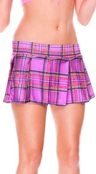 Mini Plaid Skirt, Plaid Costume Skirt, Schoolgirl Skirt