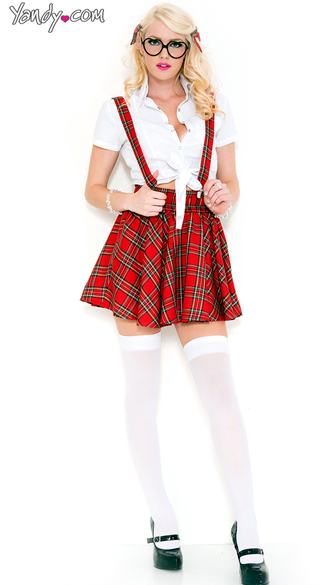 Shy Intellectual School Girl Costume