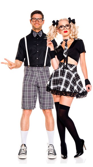 Plaid Classroom Nerds Couple Costume, Detention Hottie Costume, sexy detention hottie costume, school girl costume, sexy school girl costume, student costume, sexy student costume, prep school costume, sexy prep school costume, school uniform costume, sexy school uniform costume, Men\'s Classroom Nerd Costume, men\'s nerd costume, sexy men\'s nerd costume, sexy men\'s classroom nerd costume, sexy men\'s student costume, men\'s student costume