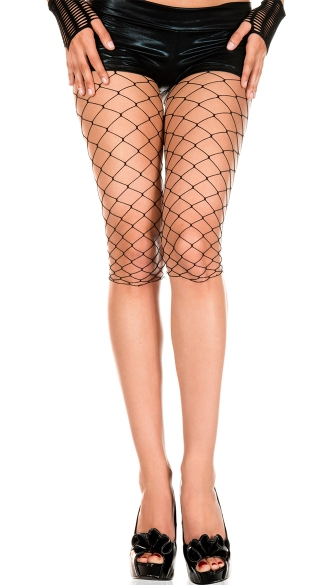 Fence Net Short Leggings, Fence Net Bike Short, Black Fence Net Half Leggings
