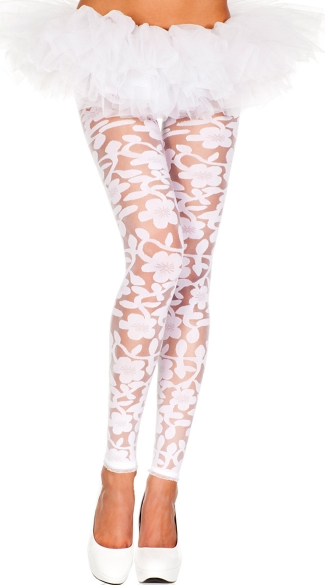 Spandex Floral Leggings