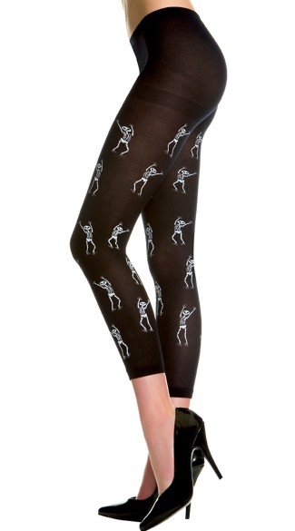 Dancing Skeleton Leggings