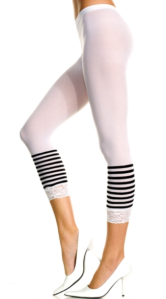 Striped Bottom Leggings