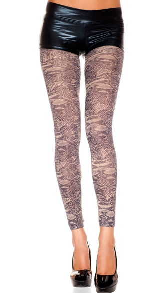 Opaque Snake Print Leggings