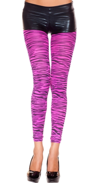 Hot Pink Zebra Print Leggings