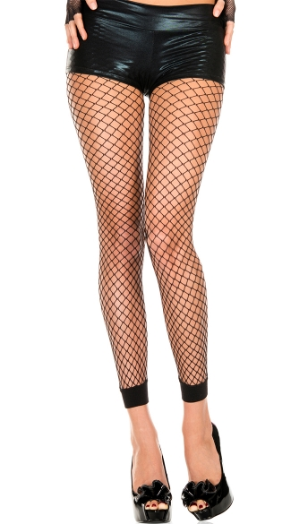 Mini Net Leggings, Mini Diamond Net Spandex Leggings