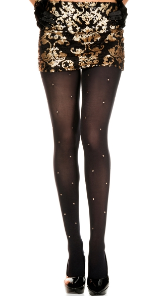 Gold Stud Tights, Golden Studs Spandex Tights