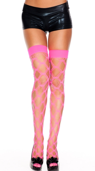 Multi Fence Net Thigh High
