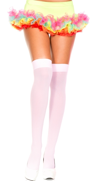 Ribbed Thigh High, Costume Hosiery, Schoolgirl Thigh Highs