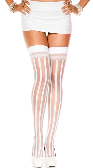 Sheer Stripes Thigh Highs