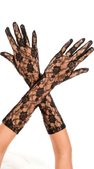 Long Lace Gloves, Lace Costume Gloves, White Lace Gloves, Black Lace Gloves