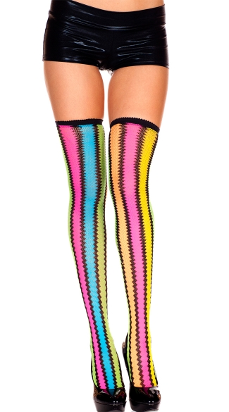 Rainbow Mesh Stockings