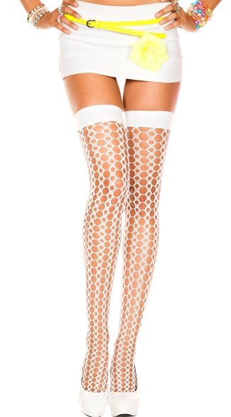 Crochet Hole Thigh High