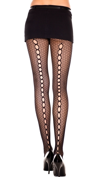 Crochet Pantyhose with Keyhole Backseam