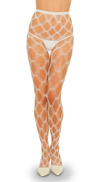 Multi Strands Diamond Net Pantyhose