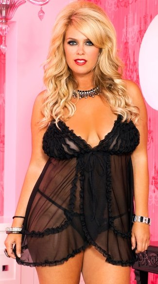 Plus Size Ruffled Babydoll