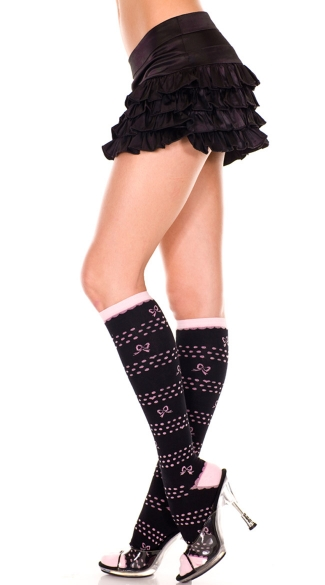 Knee Highs with Polka Dots and Hearts